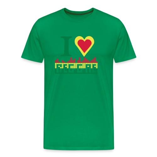 I LOVE REGGAE - Men's Premium T-Shirt
