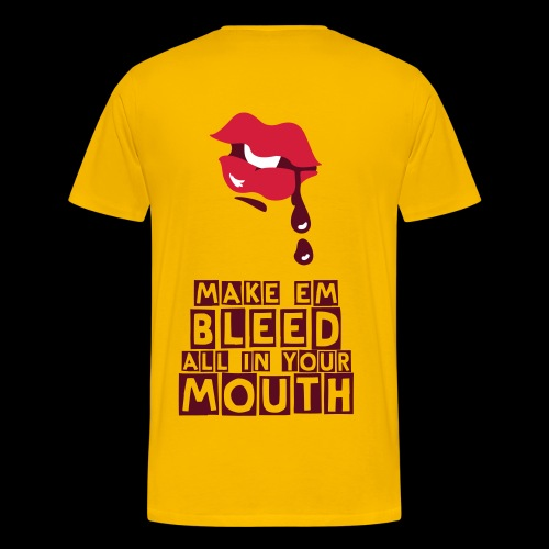MOUTH BLEED T-SHIRT - Men's Premium T-Shirt