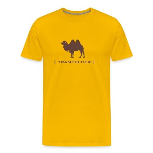 Herren Shirt Trampeltier Kamel Dromedar Tiershirt Shirt Tiermotiv - Männer Premium T-Shirt
