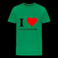 T-shirts ~ Mannen Premium T-shirt ~ Gronings T-shirt I love olle kwinne / MILF