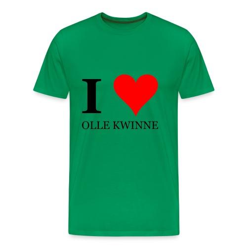 Gronings T-shirt I love olle kwinne / MILF - Mannen Premium T-shirt