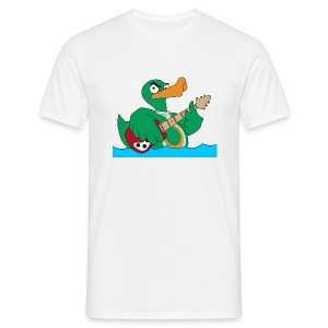 Basic T-Shirt duck@rock (Mini-Logo schwarz) - Männer T-Shirt
