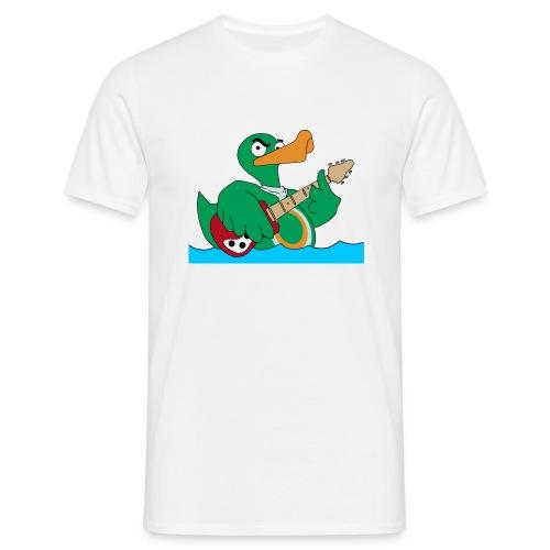 Basic T-Shirt duck@rock (Mini-Logo schwarz) - Männer T-Shirt