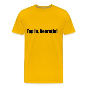 Gronings (Ten Boer) T-shirt Tap in, Beerntje! - Mannen Premium T-shirt