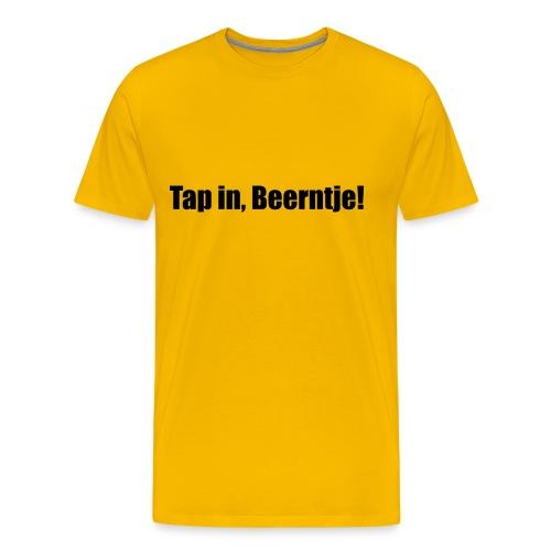 Gronings (Ten Boer) T-shirt Tap in, Beerntje! - Mannen Premium T-shirt