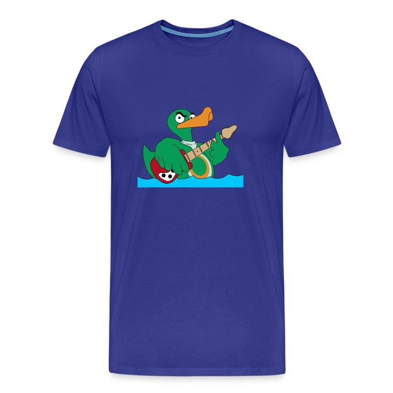 Basic T-Shirt duck@rock (Logo weiß-gelb) - Männer Premium T-Shirt