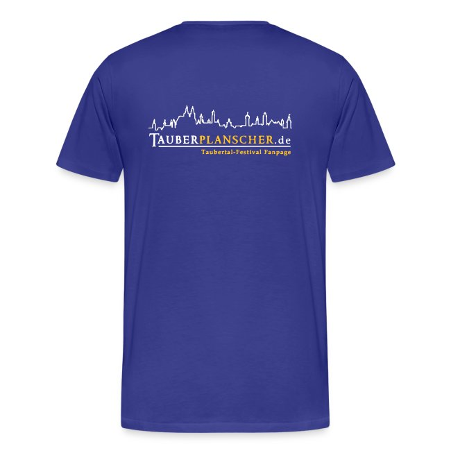 Basic T-Shirt duck@rock (Logo weiß-gelb)
