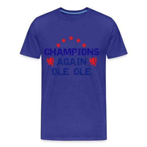 Glasgow rangers - Blue Champions again - Men's Premium T-Shirt