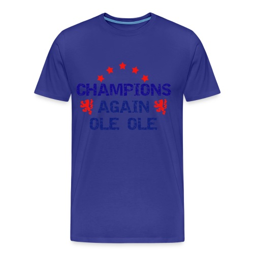 Glasgow rangers - Blue Champions again - Men's Premium T-Shirt