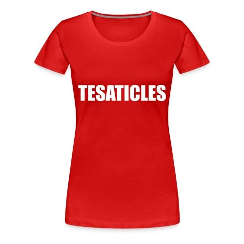 Tesaticles - Women's Premium T-Shirt