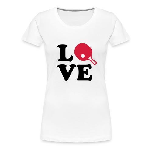 Love tennis top - Women's Premium T-Shirt