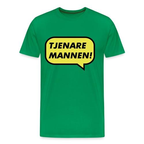 Tjenare Mannen! - Premium-T-shirt herr