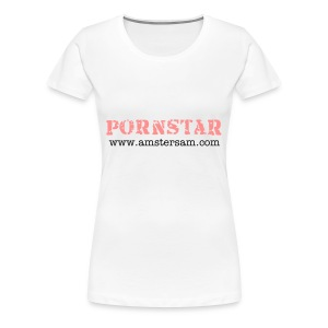 Women's Girlie Shirt 'Pornstar' White/Pink - Women's Premium T-Shirt