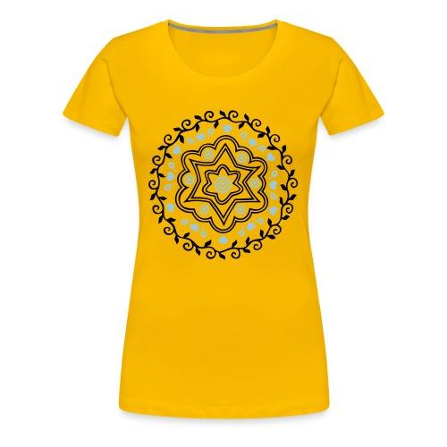 Camiseta Femenina Rosetón - Camiseta premium mujer