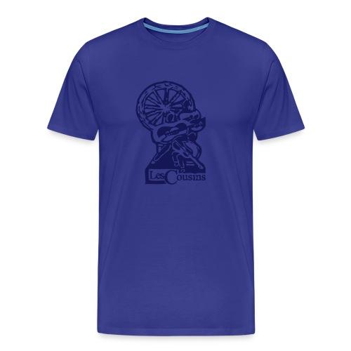 Les Cousins Men's T-shirt (Navy logo) - Men's Premium T-Shirt