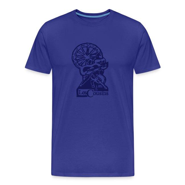 Les Cousins Men's T-shirt (Navy logo)