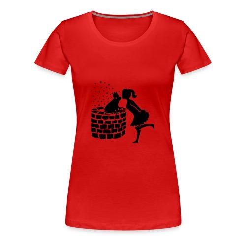 Prinzessin und der Froschkönig - Frauen Premium T-Shirt