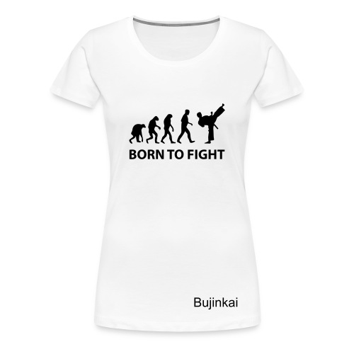 Damtopp bujinkai born to fight vit - Premium-T-shirt dam