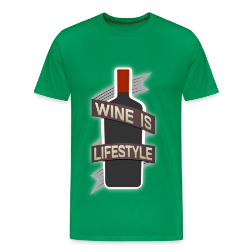 Wine is Lifestyle - Männer Premium T-Shirt