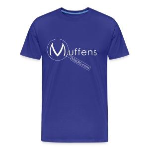Muffens Media T-Shirt: Blue - Men's Premium T-Shirt