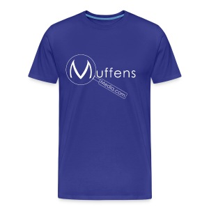Muffens Media T-Shirt: Blue - Men's Premium T-Shirt