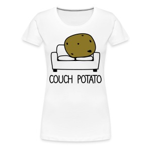 couch potato 2 - Women's Premium T-Shirt