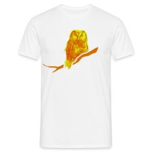 Männer Shirt Eule Kauz Uhu kauzig Tiershirt Shirt Tiermotiv - Männer T-Shirt