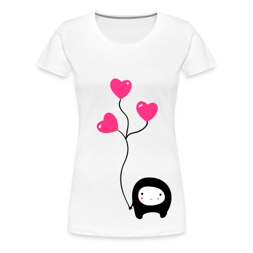 Heart Monster - Frauen Premium T-Shirt
