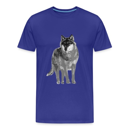 Männer Herren Shirt Wolf canis lupus Alphatier Tiershirt Shirt Tiermotiv - Männer Premium T-Shirt