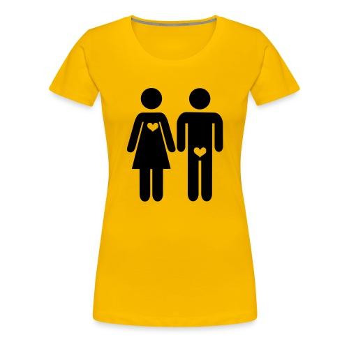 La vérité sur l'amour homme/femme - T-shirt Premium Femme