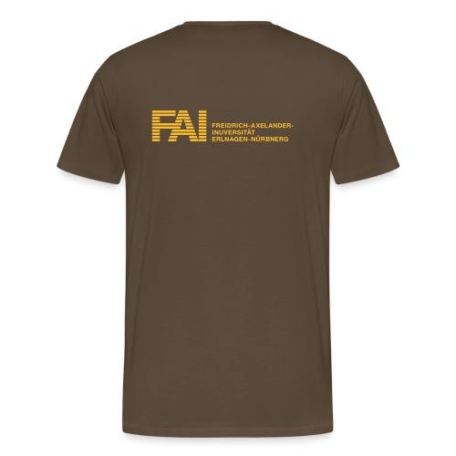 FAI back - Männer Premium T-Shirt