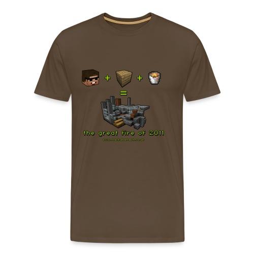 The Minecraft Great Fire Equation - Men's Premium T-Shirt