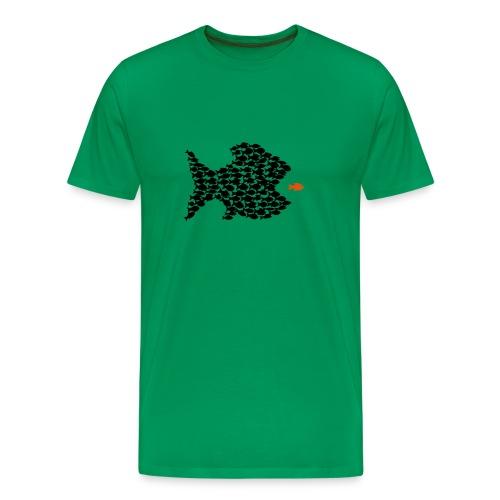 shirt t-shirt fisch fische schwarm angler angeln demokratie fressen evolution beute räuber jagd jäger tier shirt t-shirt tiere - Männer Premium T-Shirt