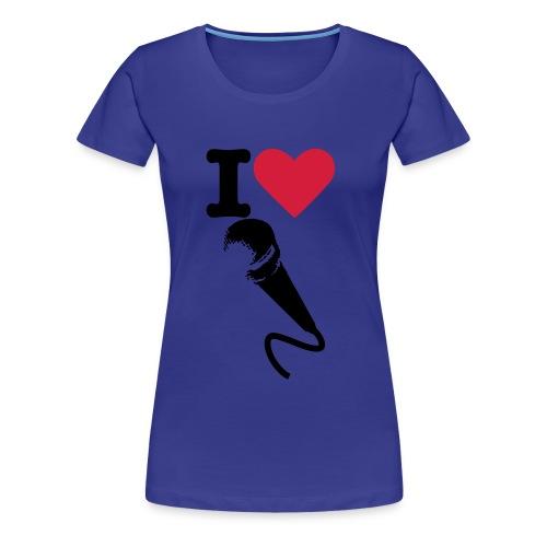 I heart singing - Women's Premium T-Shirt