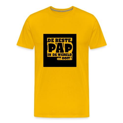 De beste pap in de wereld - Mannen Premium T-shirt