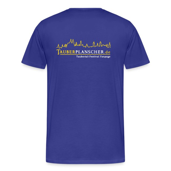 Basic-T-Shirt duck@war (Logo gelb-weiß)