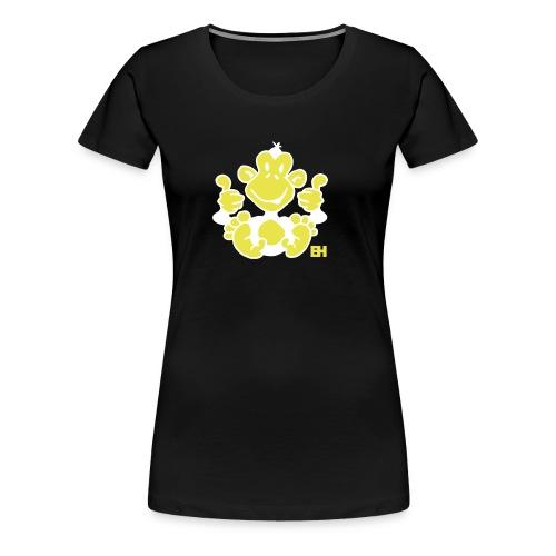 CAMISETA MUJER NEGRA MONO - Camiseta premium mujer