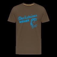 T-Shirts ~ Männer Premium T-Shirt ~ Decksteiner Weiher (hellblauer Druck)