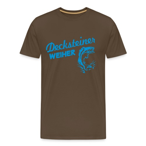 Decksteiner Weiher (hellblauer Druck) - Männer Premium T-Shirt