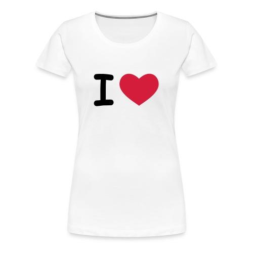 CAMISETA MUJER ILOVE - Camiseta premium mujer