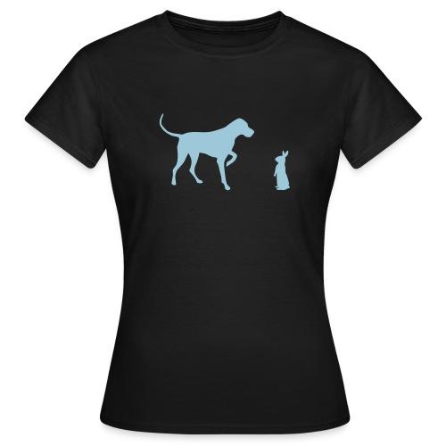 Hund trifft Hasen - Frauen T-Shirt