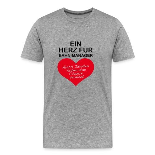 Herz für Bahn-Manager - Männer Premium T-Shirt