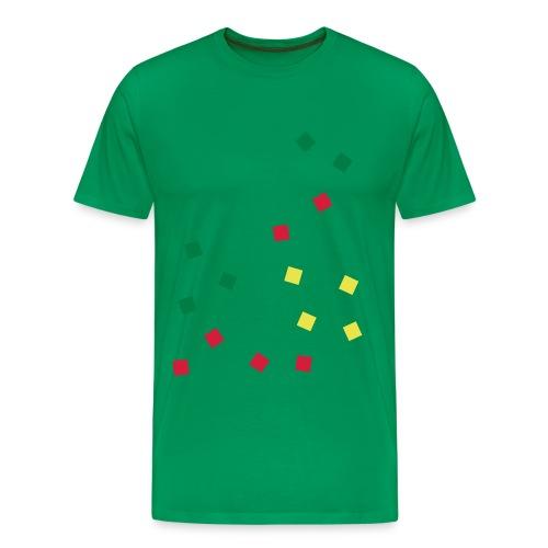 PIXEL RASTA - Männer Premium T-Shirt