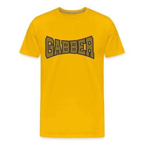 Gabber Gold-Metallic - Männer Premium T-Shirt