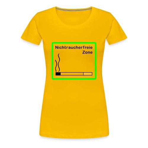 Nichtraucherfreie Zone - Frauen Premium T-Shirt