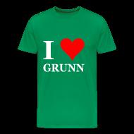 T-shirts ~ Mannen Premium T-shirt ~ Gronings T-shirt I love Grunn / I love Groningen