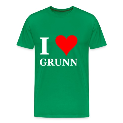 Gronings T-shirt I love Grunn / I love Groningen - Mannen Premium T-shirt