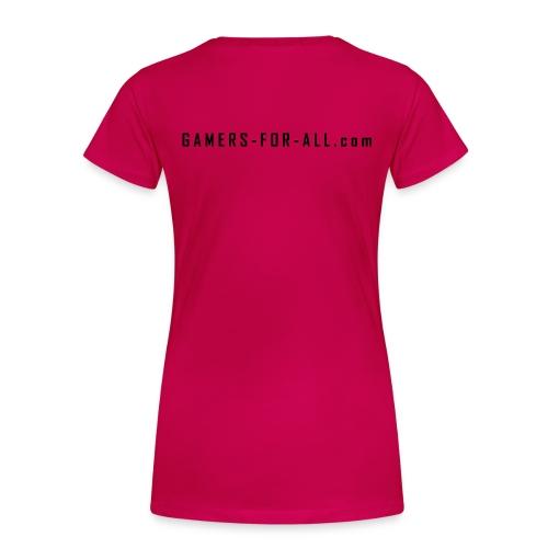 Gamers-for-All.com  pxL Clanshirt  | Frauen - Frauen Premium T-Shirt