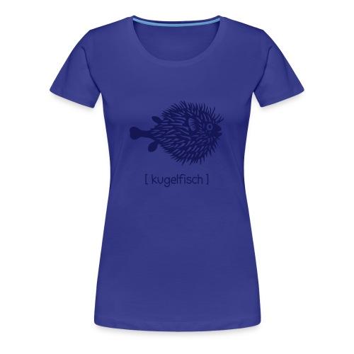 t-shirt kugelfisch blowfish fisch angler schwanger bauch bierbauch mutter mama baby inside tiershirt t-shirt tier - Frauen Premium T-Shirt