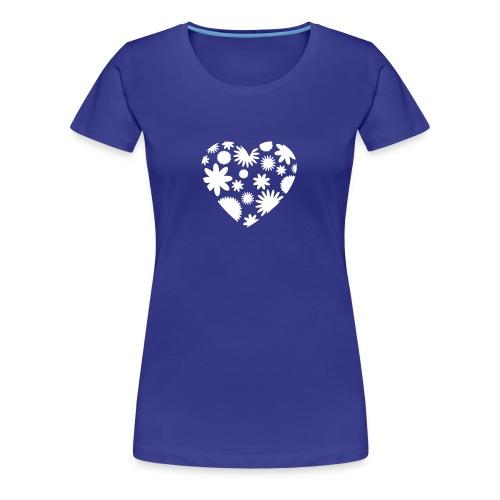 Blütenherz-Shirt - Frauen Premium T-Shirt